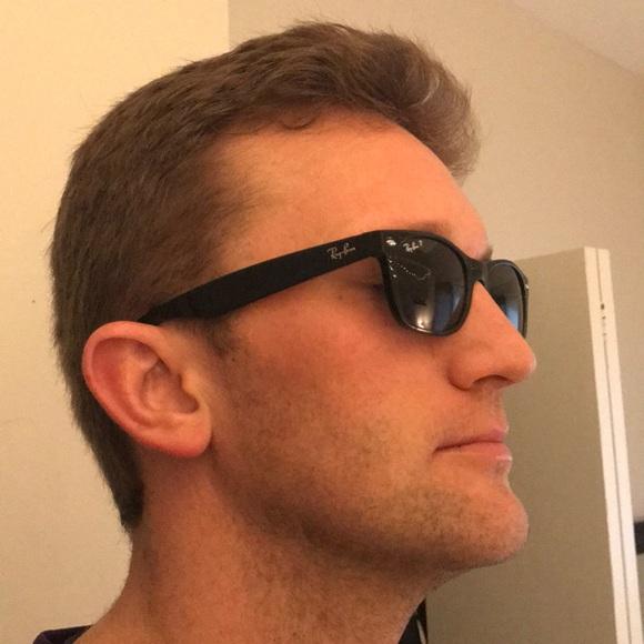 3a21caa841 Men s RayBan New Wayfarer Polarized Sunglasses. M 5a80ba008df470a0b58e976e